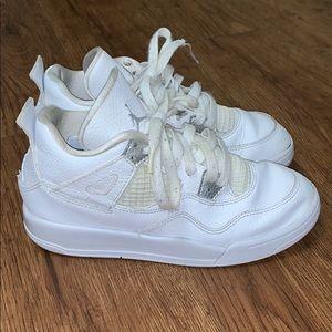 Kid's Air Jordan 4 OG Pure Money White Sz 3 Youth